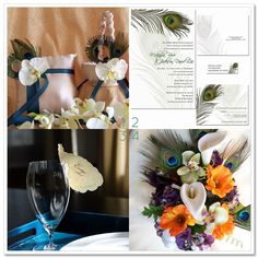 peacock wedding | Our final selection of beautiful peacock-themed wedding accessories ...