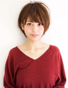 小顔ショートヘア(MO-387)   ヘアカタログ・髪型・ヘアスタイル AFLOAT(アフロート)表参道・銀座・名古屋の美容室・美容院