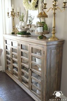 HomeGoods Breakfast Room Wooden Sideboard Hutch