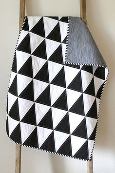 black and white isosceles triangle quilt. by CB Handmade, via Flickr #modern #quilts