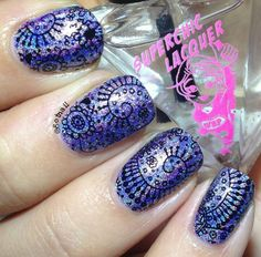 Stamping Nail Art using Chaos and Crocodiles: ☆ Decoy ☆ and Uber Chic Beauty plate