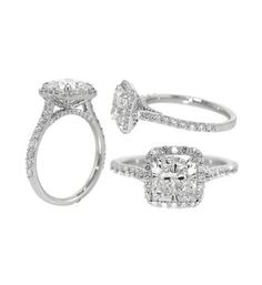 ATTENTION FUTURE HUSBAND: THIS IS MY ENGAGEMENT RING. Lux Bond & Green : Cushion Cut Diamond Engagement Ring