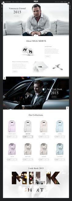 About milk shirts. Best Website Design, Website Header Design, Website Layout, Web Layout, Layout Design, Website Web, Website Ideas, Web Design Studio, Web Ui Design