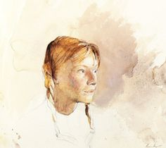 Andrew Wyeth  Her Daughter, watercolor and pencil--love, love his work.