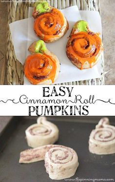 This makes a super quick and easy fall breakfast! Perfect for Halloween and Thanksgiving!