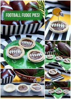 Check out Pizzazzerie's Football Fudge Pies! Such a Fan!