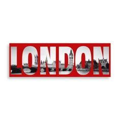 Definitely want this London Red Wall Art for my Bathroom!