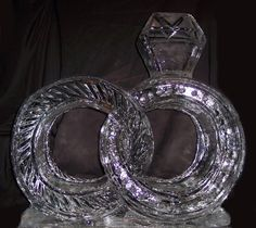 Interlocking Wedding Rings out of ice