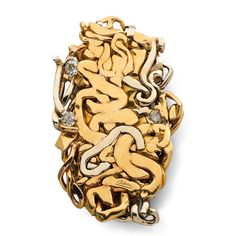 Brooch by noted French Nouveau Réalisme sculptor, César. By 1971, he created his…