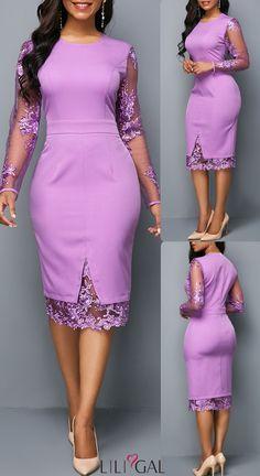 pizza - 40 Long Sleeve Zipper Back Mesh Panel Dress liligal dresses African Wear Dresses, Latest African Fashion Dresses, Women's Fashion Dresses, Sexy Dresses, Elegant Dresses, Casual Dresses, Summer Dresses, Pretty Dresses, Formal Dresses