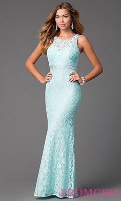 Lace Sleeveless Floor Length Dress at PromGirl.com Maxi Kleider,  Ballkleider 2015, Abendkleider 2bf709c5ad
