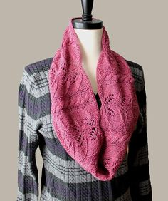 Hawthorn Lace Cowl Knitting pattern by Lijuan Jing Snood Knitting Pattern, Knitting Yarn, Knitting Patterns, Scarf Patterns, Knitting Ideas, Knitted Shawls, Crochet Scarves, Knit Crochet, Knitting Club