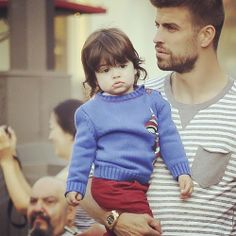 adorable ^_^ Milan and Gerard Pique