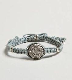 AE woven disc bracelet