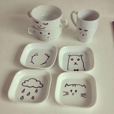 W Fine Porcelain China Diane Japan Fine Porcelain, Porcelain Ceramics, Ceramic Plates, Ceramics Tile, Pottery Painting, Ceramic Painting, Ceramic Art, Painted Mugs, Painted Plates