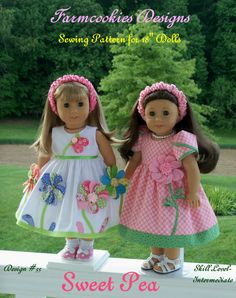 PDF Sewing Pattern / SWEET PEA / Summer Dresses for American Girl Maryellen…