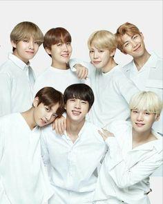 BTS x VT cosmetics bts wearing white Seokjin, Namjoon, Bts Bangtan Boy, Bts Jimin, Taehyung, Foto Bts, Jung Hoseok, K Pop, Bts Group Photos
