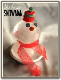 Do you wish it would snow so you can make a snowman for CHRISTMAS? Well you don't have to - here's how to make a no-snow snowman - so CUTE! Christmas Crafts For Kids To Make, Holidays With Kids, Snow Holidays, Christmas Art, Kids Crafts, Christmas Ideas, Xmas, Snow Activities, Science Activities For Kids