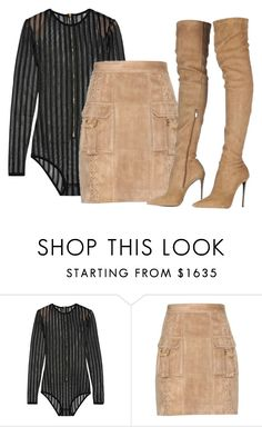 """Untitled #351"" by samstyles001 on Polyvore featuring Balmain and Roberto Cavalli"