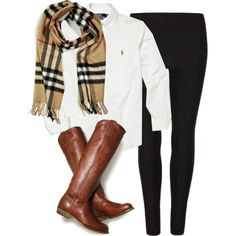 Cuuute & casual. I already have the scarf and similar boots. I guarantee this will be a fall outfit ;-)