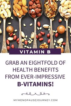 Vitamin B Benefits for Menopause   B-Vitamins is a complex of nutrients that keeps our midlife health on the right track! The benefits it can bring are surely impressive! Start making these vitamins a part of your healthy eating habit and you'll begin to see how your menopause experience becomes more enjoyable! What does Vitamin B do?   Vitamin B benefits   Vitamin B foods #BenefitsOfVitaminB #PromoteMidlifeHealthWithVitaminB #VitaminBForImmunity Vitamin B Foods, Vitamin D2, Vitamin B Complex, Sources Of Vitamin B, Garden Of Life Vitamins, Lactose Free, Dairy Free, Organic Vitamins