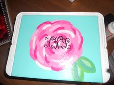 cooler craft ~ lilly pattern & monogram too!