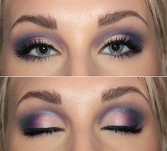 purple smoky shadow