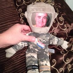 """Love Operation Military Kids. Sawyer has slept with his """"Daddy doll"""" since pre- deployment Fall 2010. They sent my oldest to summer camp also. Awesome program."""