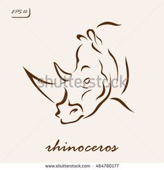 Vector illustration. Illustration shows a rhinoceros