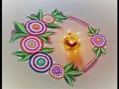 23 Best & Easy Rangoli Designs for Diwali【 2017 】 Diwali Diy, Diwali Craft, Diwali Rangoli, Rangoli Patterns, Rangoli Ideas, Beautiful Rangoli Designs, Kolam Designs, Indian Rangoli, Flower Rangoli