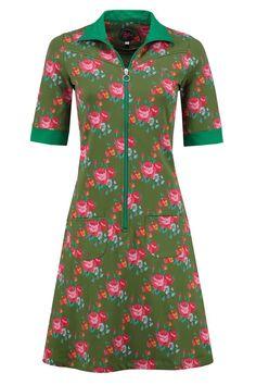 Dress Sporty Roses Army -Tante Betsy.com