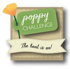 Poppystamps Challenge Hot Colors and/or watercoloring