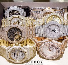 Casio Women's Gold Stainless-Steel Quartz Watch with Digital Dial – Fine Jewelry & Collectibles Rapper Jewelry, Patek Philippe, Audemars Piguet, Gold Diamond Watches, Swiss Army Watches, Unusual Jewelry, Luxury Watches For Men, Omega, Beautiful Watches