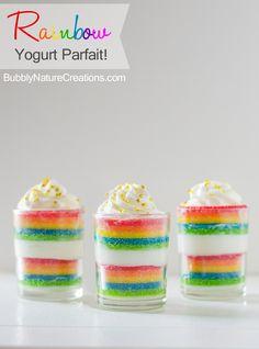 {Rainbow} Yogurt Parfait!