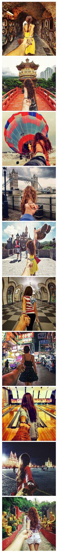 Man follows girlfriend all around the world © Murad Osmann