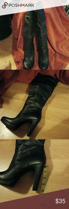 Jessica Simpson Leather Knee High Boots, Size 7 Very soft leather knee high boots. Gently preowned condition. Inside zip. No box. Jessica Simpson Shoes Over the Knee Boots