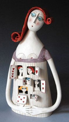 TiEnrica Campi e Massimo Voghera Casa Ravera Bene Vagienna (CN) Sculptures Céramiques, Paper Mache Sculpture, Sculpture Art, Ceramic Clay, Ceramic Pottery, Pottery Art, Clay Projects, Clay Crafts, Paper Crafts