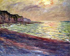 Claude Monet - The Beach at Pourville, 1882