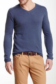 Reverse Seam Cashmere Sweater