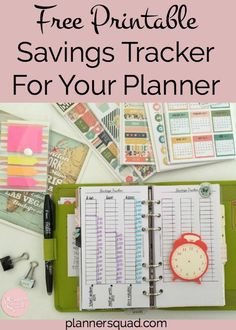 Now, you have a great way to keep track of your savings in your planner! Use these free printable savings trackers to help with your financial planning & budget.