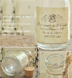 【楽天市場】*麻紐&コルク蓋付き円すいボトル【メール便不可】88【由】:スプリングデイズ