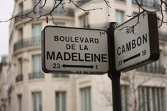 Boulevard de la Madeleine - Paris want to take my picture with this sign. haha