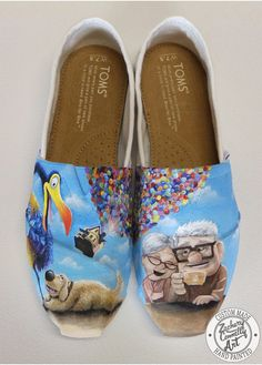 Custom designed UP Toms shoes by ZacharyConnellyArt