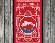 BoGo Pattern cross stitch House Martell Game of by LolitaMade