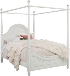 Disney Princess Dreamer White 4 Pc Twin Canopy Bed - Rooms To Go Full Size Canopy Bed, Twin Canopy Bed, Canopy Bed Frame, Toddler Canopy Bed, Wood Canopy Bed, Girls Bedroom Canopy, Little Girl Canopy Bed, Bedroom Ideas, Castle Beds For Girls