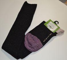 NEW KATE SPADE NEW YORK Metallic Knee High Socks One Pair Black One Size #katespadenewyork #AnkleHigh