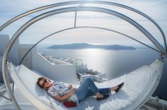 Korina Vousia by Intimissimi Loves Santorini Awarded Campaign by Hotel Brain Santorini, Greek Blue, Diving, Zen, Greece, Brain, Campaign, Intimissimi, Greece Country