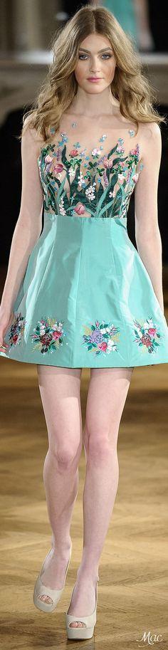 Yanina Spring/Summer 2015 Haute Couture Fashion Show - Paris Women's Dresses, Flower Dresses, Pretty Dresses, Evening Dresses, Short Dresses, Long Gowns, Short Skirts, Couture 2015, Couture Fashion