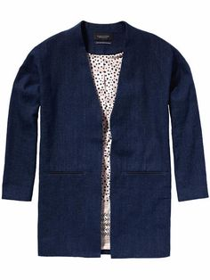Maison Scotch Summer Linen Box Blazer - plum.boutique - 1