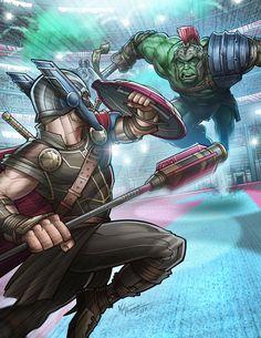 #Hulk #Animated #Fan #Art. (Thor Vs. Gladiator Hulk) By: Kpetchock. ÅWESOMENESS!!!™ ÅÅÅ+(HE'S Å FRIEND FROM WORK!)